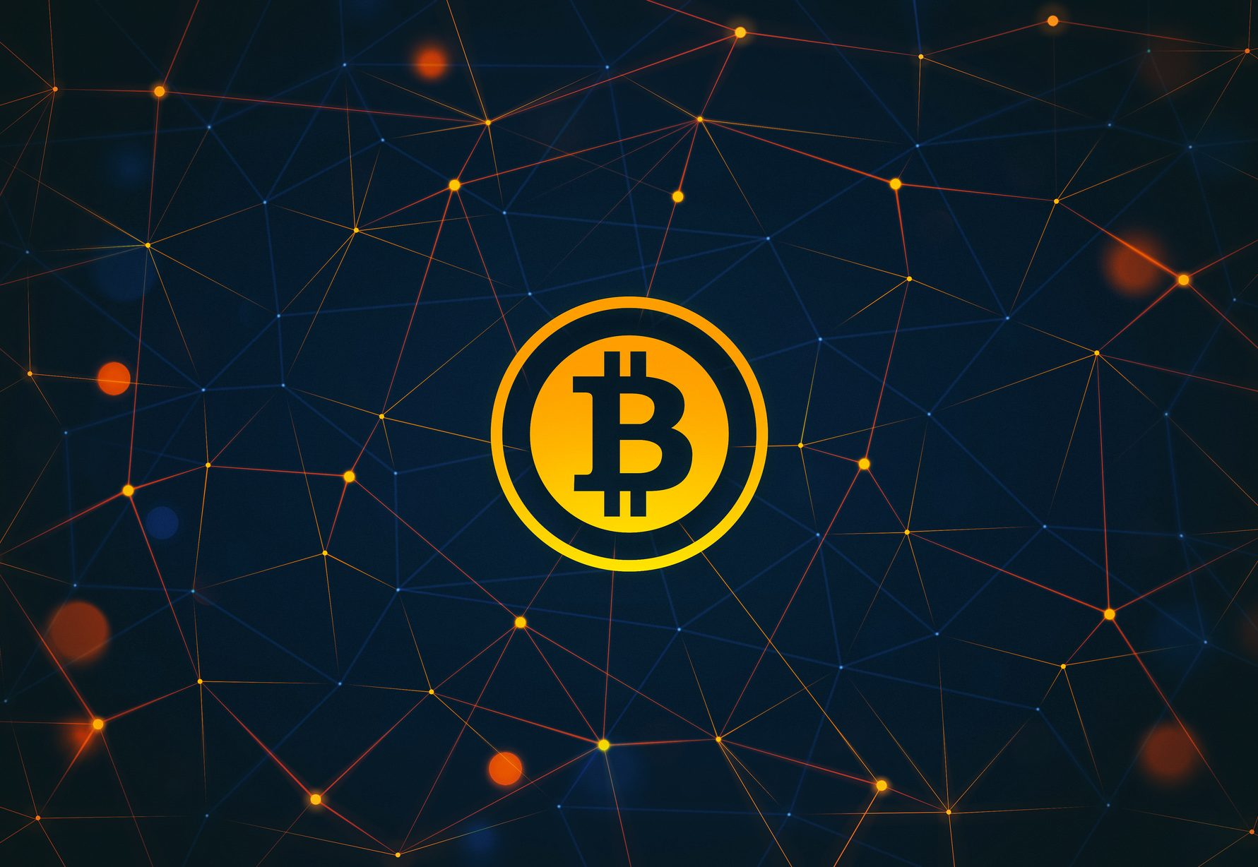仮想通貨のビットコインの画像