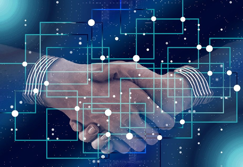 Shaking Hands Handshake Data Personal Block Chain